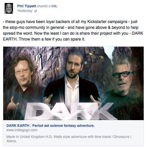 Phil Tippett endorse Dark Earth